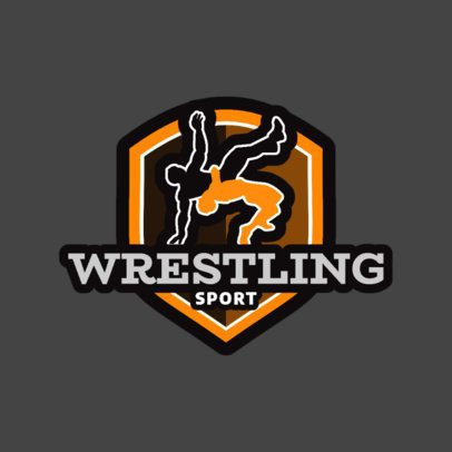Wrestling Logo Generator for Teams and Clubs 1538a