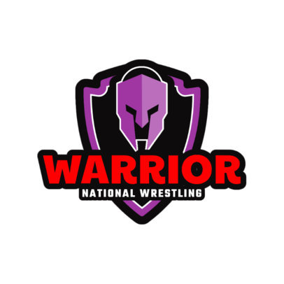 Wrestling Logo Design Template with Eye-Catching Graphics 1538b