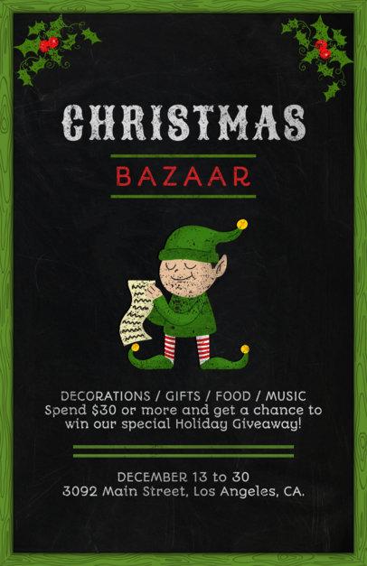 Christmas Bazaar Flyer Template 863