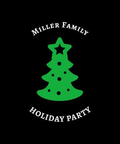 Family Christmas Tee Design Maker 831d
