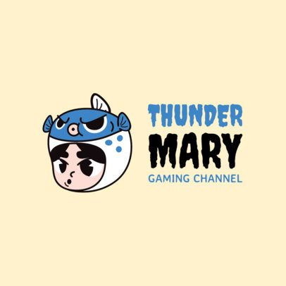 Twitch Character Logo Maker with a Funny Illustration 1464a