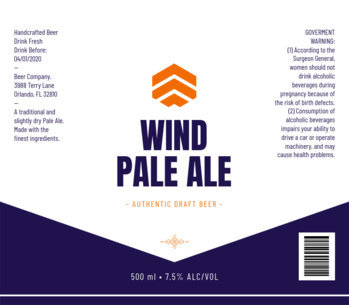 Authentic Craft Beer Label Template for Pale Ale Beer 764e