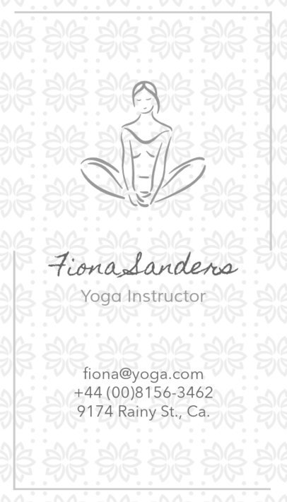 Business Card Maker for a Yoga Studio 105a