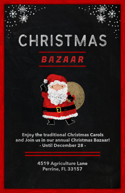 Holiday Flyer Template for a Christmas Bazaar 863b