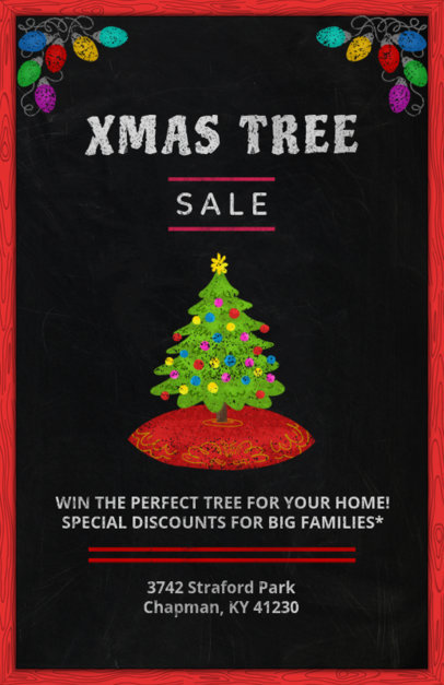 Christmas Flyer Design Template for a Holidays Sale 863e