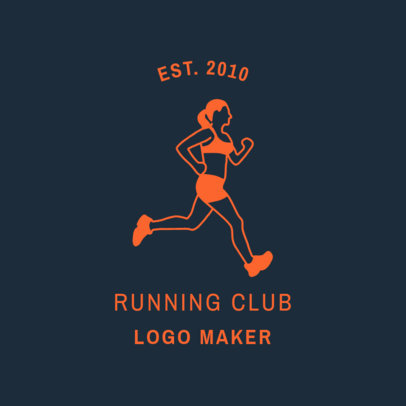 Running Club Logo Template 1546b