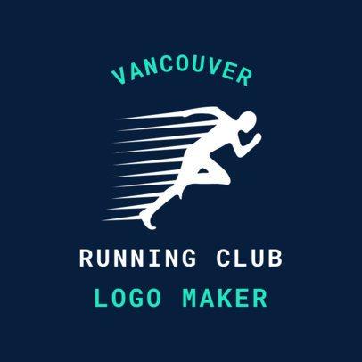 Track Logo Maker for a Running Club 1546d