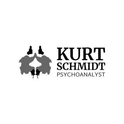 Psychologist Logo Design Make with Inkblot Graphics 1524b