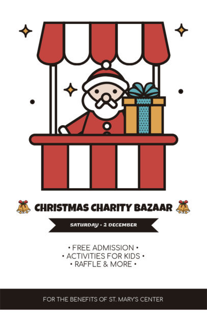 Christmas Flyer Design Template for a Charity Bazaar 861e