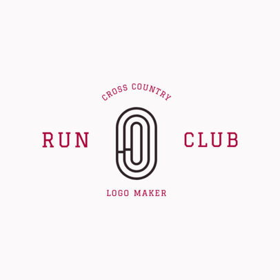 Cross Country Logo Maker for a Running Club 1546c