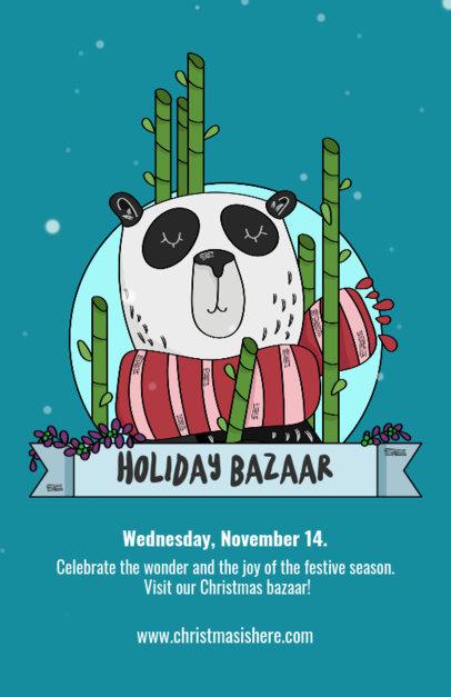 Holiday Bazaar Flyer Template for Christmas 868b