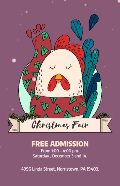Christmas Fair Flyer Template 868d