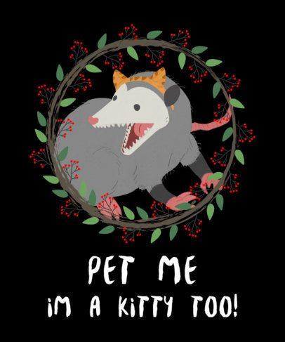 T-Shirt Design Maker with Christmas Cats 828e