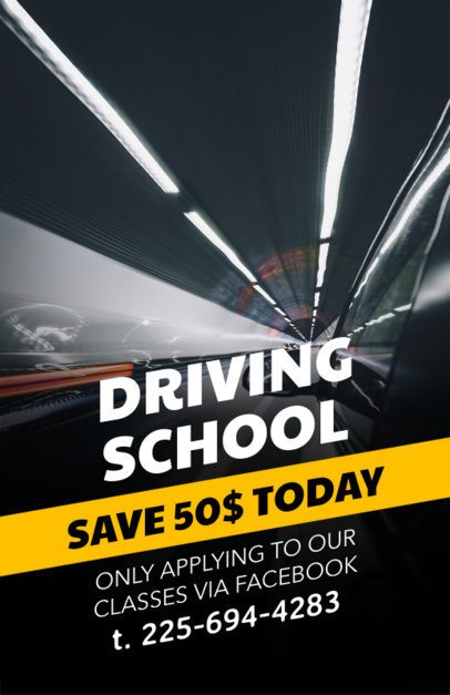 Online Flyer Template for a Driving School 273d