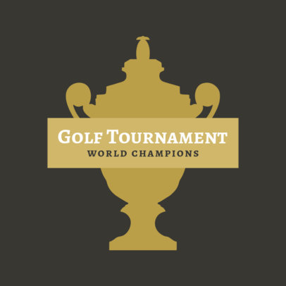 Golf Logo Maker for a Golf Tournament 1555a