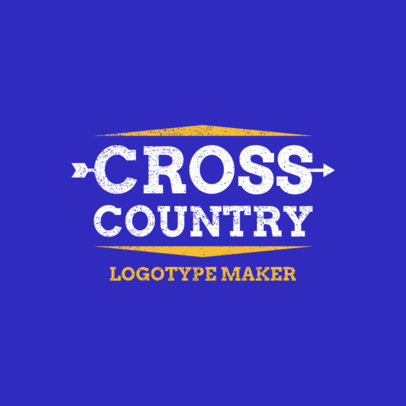 Minimalistic Cross Country Logo Generator 1565a