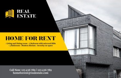 Real Estate Agency Flyer Maker with Bold Colors 242d