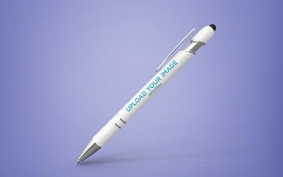 Pen Mockup Floating on a Custom Background 23468