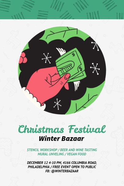 Christmas Flyer Template for Xmas Festivals 870e