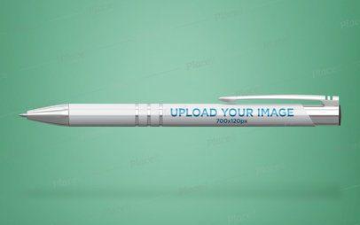 Stylish Pen Mockup Floating on a Customizable Background 23476