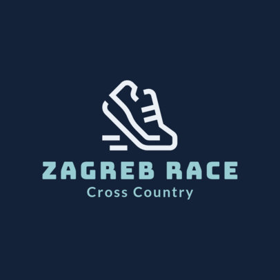 Cross Country Logo Maker with a Sneaker Clipart 1566a