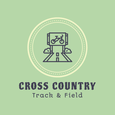 Cross Country Logo Template for a Team 1566e