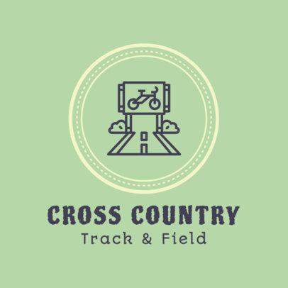 Cross Country Logo Template for a Team 1566e