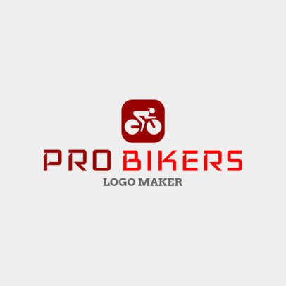 Cycling Logo Maker for Pro Bikers 1573a