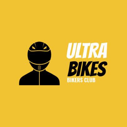 Bikers Club Logo Maker for a Cycling Team 1573b