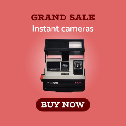 Cool Instant Camera Sale Ad Maker 522c