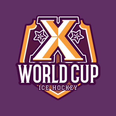 Ice Hockey Logo Maker for a Hockey World Cup 1559e