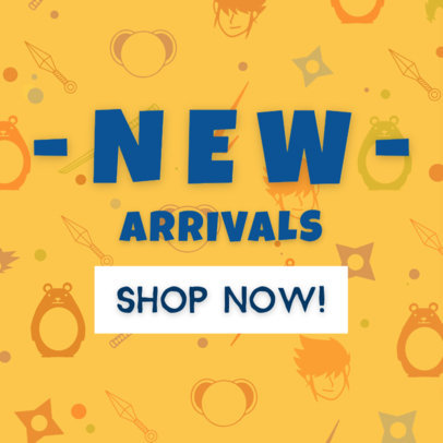 Cool Cartoon for New Arrivals Banner Maker 247b