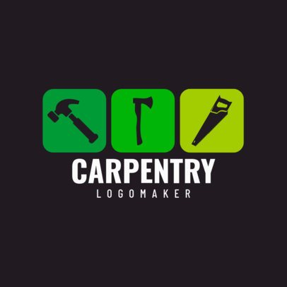 Carpentry Logo Maker with Square Graphics 1547
