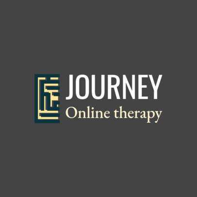 Psychologist Logo Template for Online Therapy 1526c