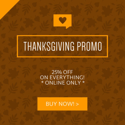 Thanksgiving Day Sale Ad Banner Maker 745b