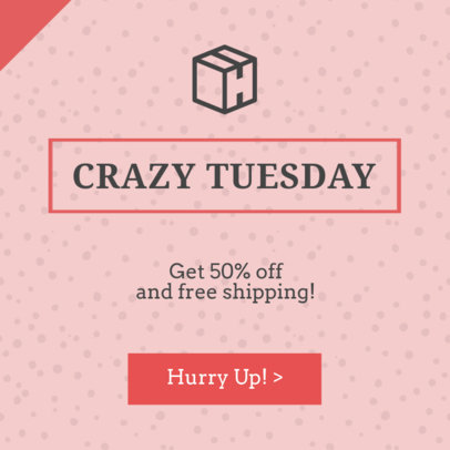Crazy Tuesday Sale Ad Banner Template 745e