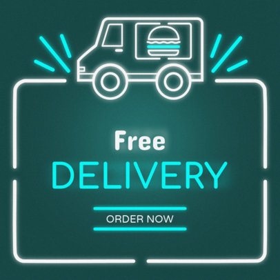 Online Banner Maker with Food Truck Graphic #311b
