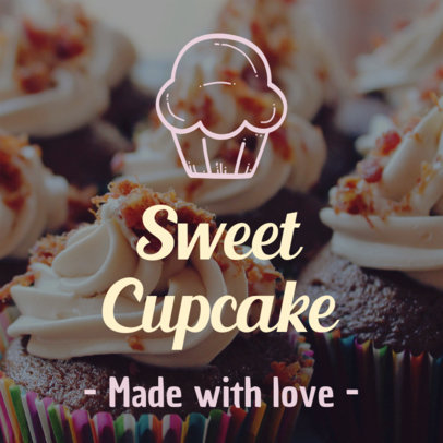 Banner Maker for Cupcake Shops 370a
