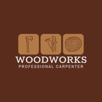 Carpentry Logo Creator for Woodworks 1547b