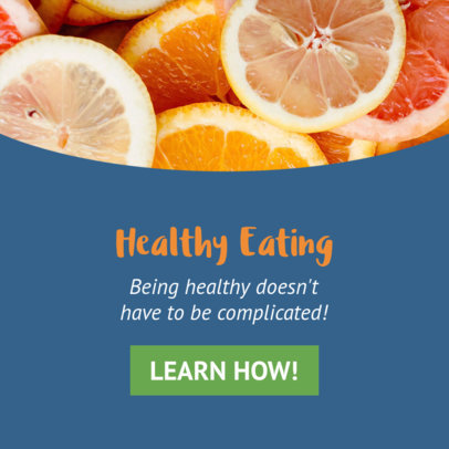 Healthy Eating Banner Design Template 16616c