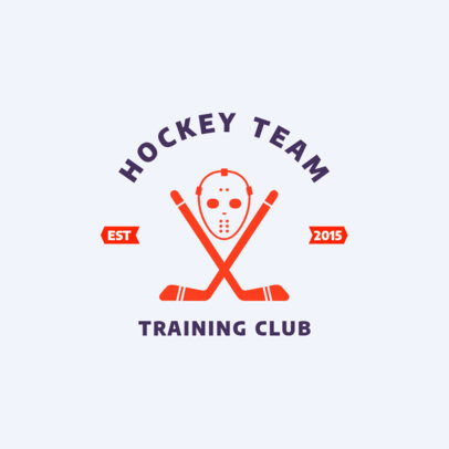 Hockey Team Training Club Logo Creator 1563b