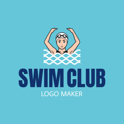 Swimming Logo Maker for a Swim Club 1576