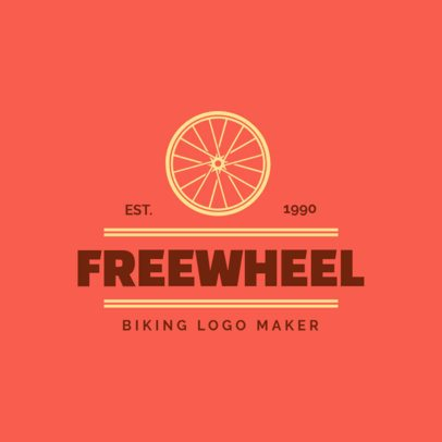 Biking Logo Maker for a Cycling Team with a Wheel Graphic 1572e