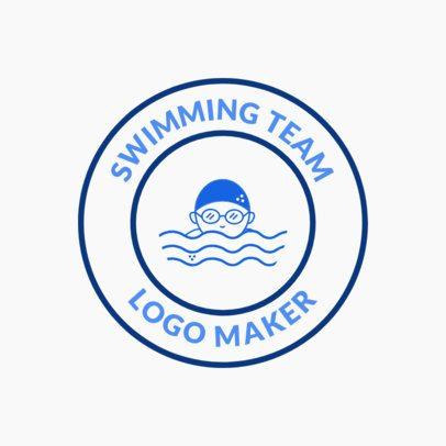Swimming Team Logo Maker with Circular Badge 1577a