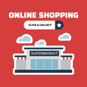 Banner Maker for Online Grocery Shopping 524c