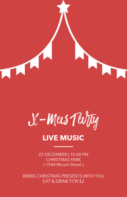 Christmas Flyer Template with Holiday Banner Clipart 849b