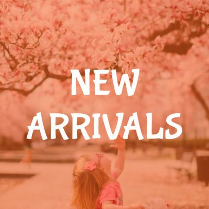 Pink Online Banner Maker for New Arrivals 16587c