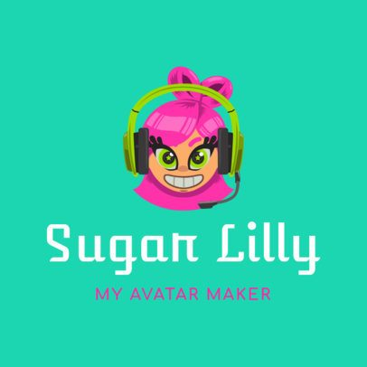 Gaming Logo Creator with Sweet Avatar 1460c