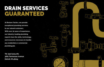Plumbing Flyer Generator for Drain Services 716a