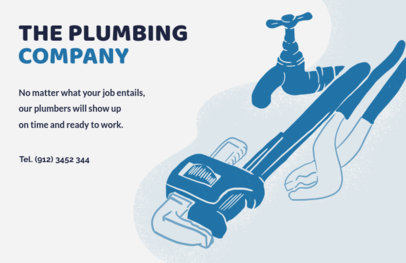 Horizontal Plumbing Flyer Maker for Plumbing Companies 716b